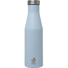 MIZU S4 juomapullo with Stainless Steel Cap 400ml , sininen/hopea